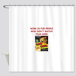 NOIR1 Shower Curtain