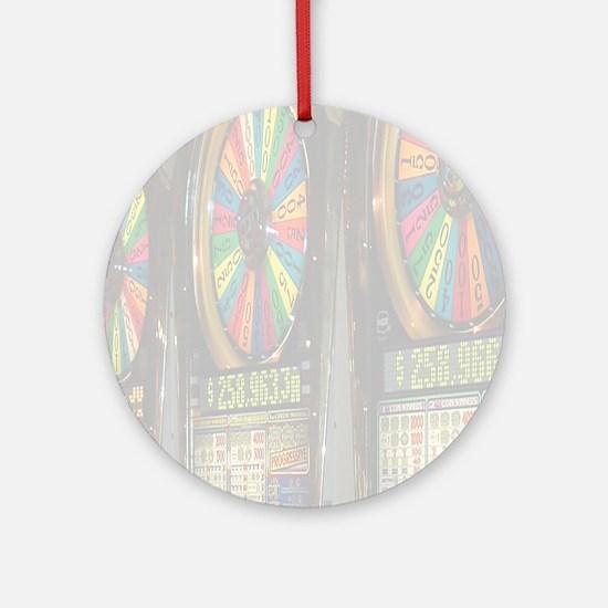 Las Vegas Slots Ornament (Round)
