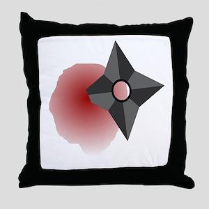 Death by Shuriken Throw Pillow