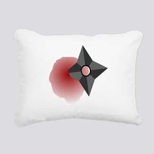 Death by Shuriken Rectangular Canvas Pillow