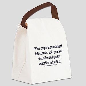 School Spanking Canvas Lunch Bag