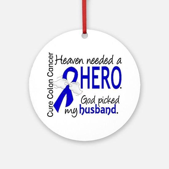 Colon Cancer HeavenNeededHero1 Ornament (Round)