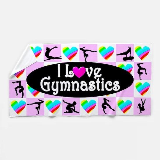 Super Star Gymnast Beach Towel