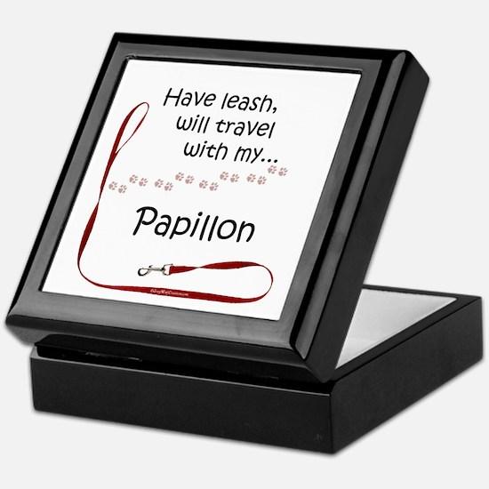 Papillon Travel Leash Keepsake Box