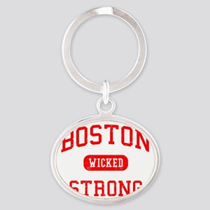 Boston Wicked Strong Oval Keychain