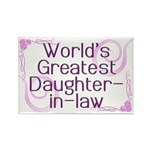 World's Greatest Daughter-in-Law Rectangle Magnet