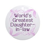 World's Greatest Daughter-in-Law Ornament (Round)