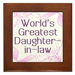 World's Greatest Daughter-in-Law Framed Tile