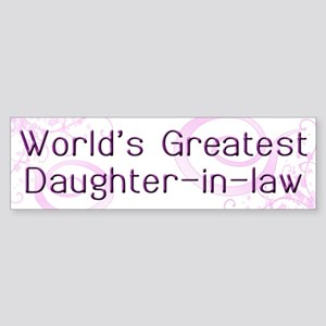 World's Greatest Daughter-in-Law Bumper Sticker