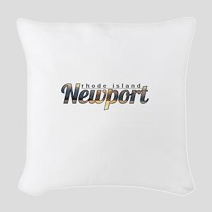 Newport Rhode Island Woven Throw Pillow