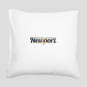 Newport Rhode Island Square Canvas Pillow
