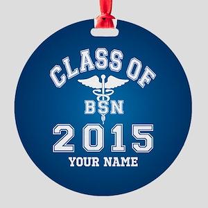Class Of 2015 BSN Round Ornament