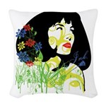 Pinupfoliage Woven Throw Pillow