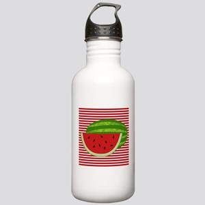 Watermelon on Red and White Water Bottle