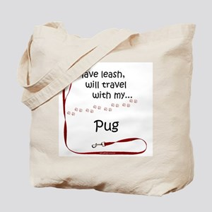 Pug Travel Leash Tote Bag