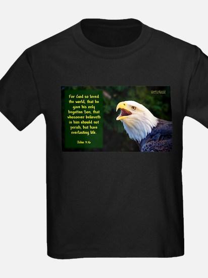Talking Eagle (Left) - John 3:16 T-Shirt