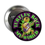 Turtles Rock My World Button