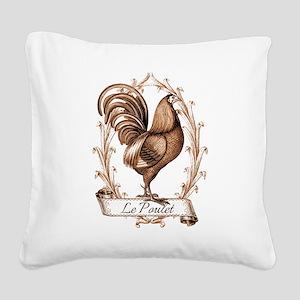 Poulet Square Canvas Pillow