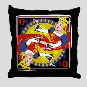 Queen of Diamonds Throw Pillow
