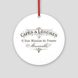 Cafe Marseille Ornament (Round)