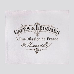 Cafe Marseille Throw Blanket