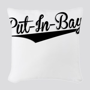 Put-In-Bay, Retro, Woven Throw Pillow