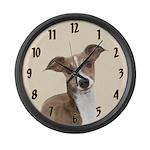 Italian Greyhound Large Wall Clock