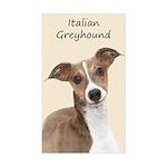 Italian Greyhound Sticker (Rectangle 50 pk)