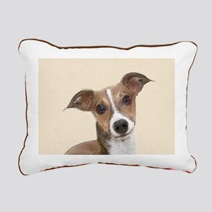 Italian Greyhound Rectangular Canvas Pillow