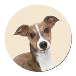Italian Greyhound Round Car Magnet