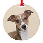 Italian Greyhound Round Ornament