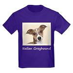 Italian Greyhound Kids Dark T-Shirt