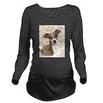 Italian Greyhound Long Sleeve Maternity T-Shirt