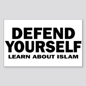Defend Yourself Rectangle Sticker