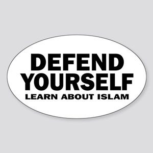 Defend Yourself Oval Sticker