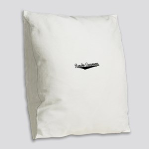 Rancho Cucamonga, Retro, Burlap Throw Pillow