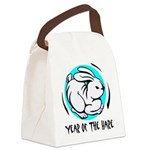 Yr of Hare b Canvas Lunch Bag