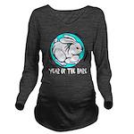 Yr of Hare b Long Sleeve Maternity T-Shirt