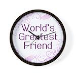 World's Greatest Friend Wall Clock