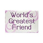 World's Greatest Friend Rectangle Magnet (100 pack