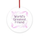 World's Greatest Friend Ornament (Round)