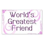 World's Greatest Friend Rectangle Sticker