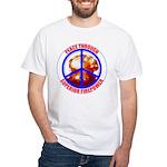Peace Through Superior Firepower White T-Shirt