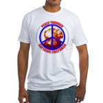 Peace Through Superior Firepower Fitted T-Shirt