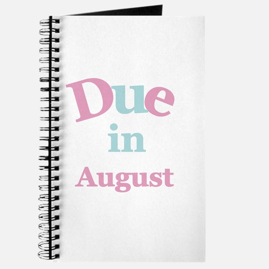 Pink Due in August Journal