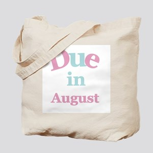Pink Due in August Tote Bag