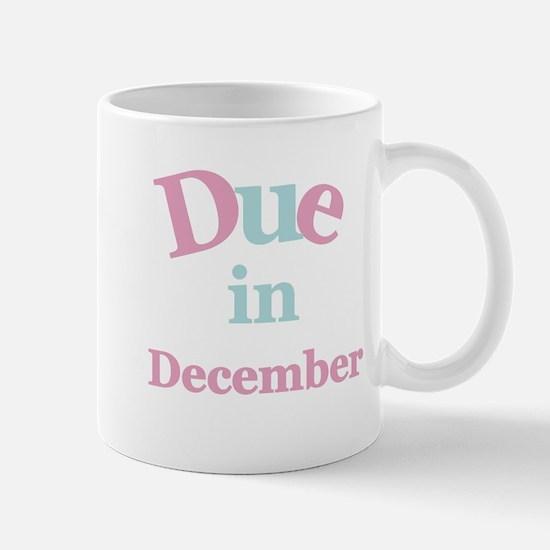 Pink Due in December Mug