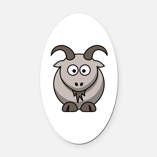 Cool Cartoon goat Oval Car Magnet