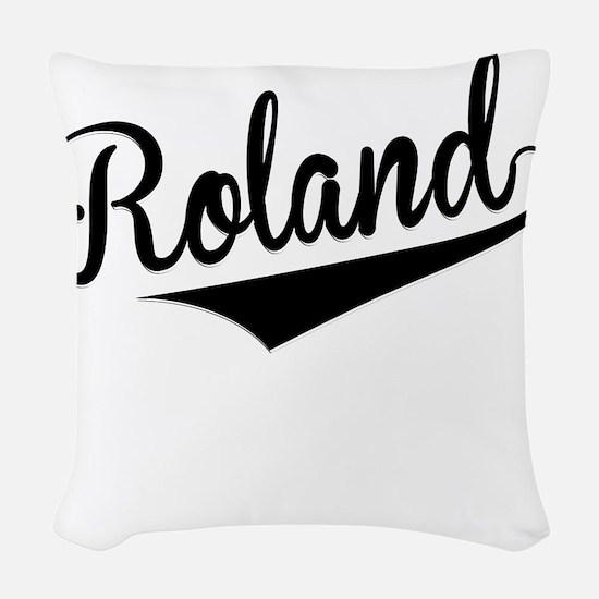 Roland, Retro, Woven Throw Pillow