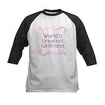 World's Greatest Girlfriend Kids Baseball Jersey